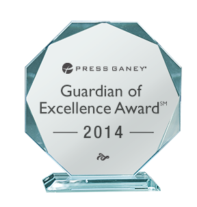 Idaho Doctors' Hosptial Press ganey Associates, Inc. 2014 Guardian of Excellence Award